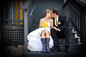 Regen huwelijksdag