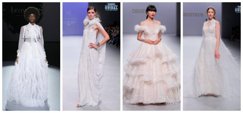 wedding dresses trend zo licht als een veertje